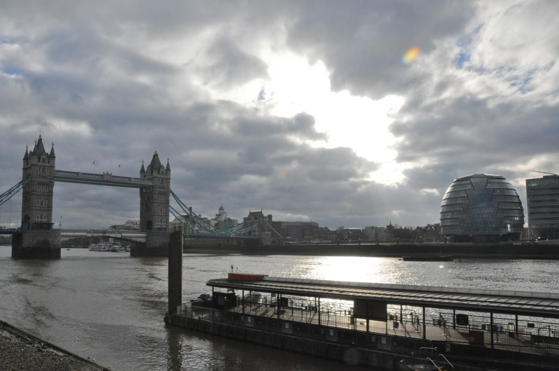 Grey Clouds over Tower Bridge