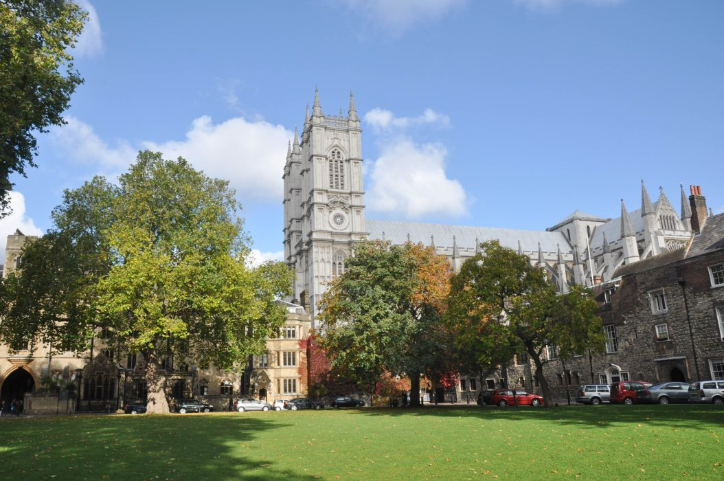 Deans Yard view of westminster Abbey - day