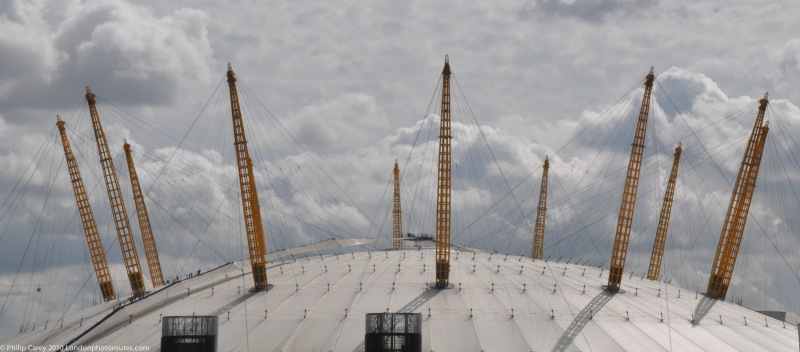 Detail of the O2 Arena's dome