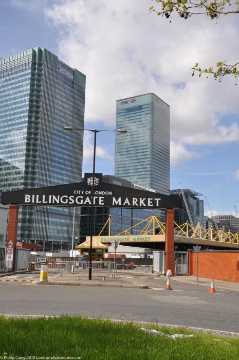 Billingsgate Fish Market Entrance on Trafalgar Way