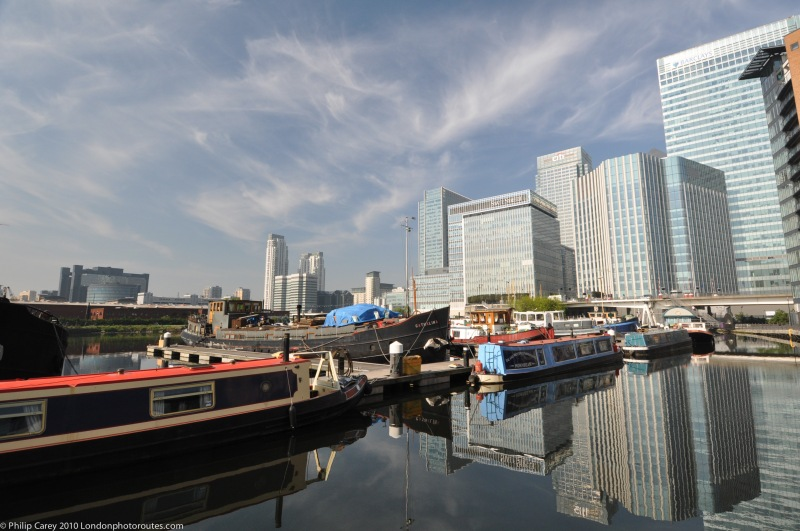 Blackwall Basin and barges