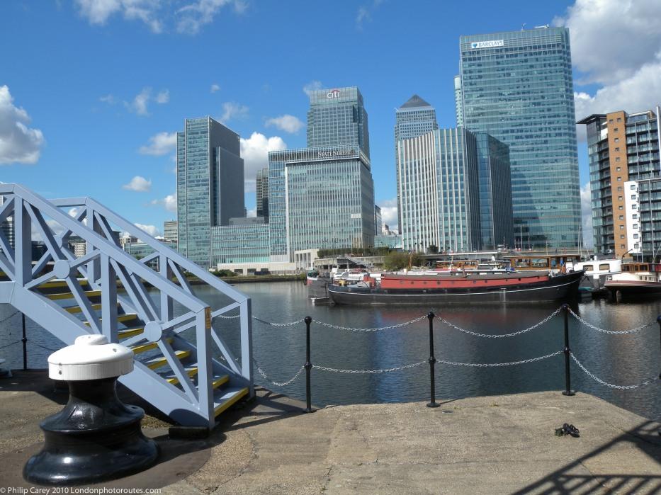 Docklands view by Bridge House Quay - Blackwall Basin