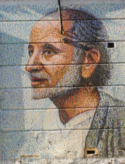 Man on Sclater Street off Brick Lane
