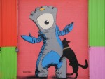 Brick Lane Shop front - Dog and Olympic mascot