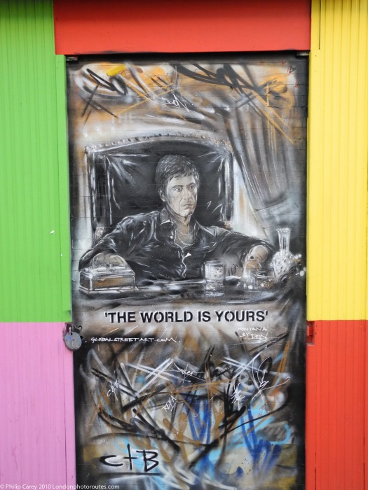 Shop Front Door - Brick Lane - The world is Yours - Montana - Don
