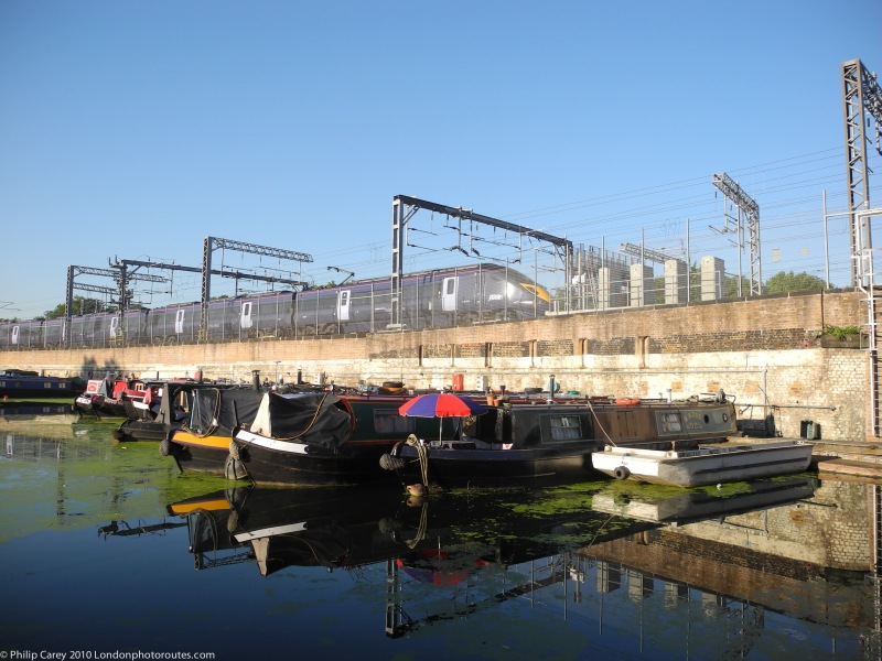 Barges and Trains on Regents Canal
