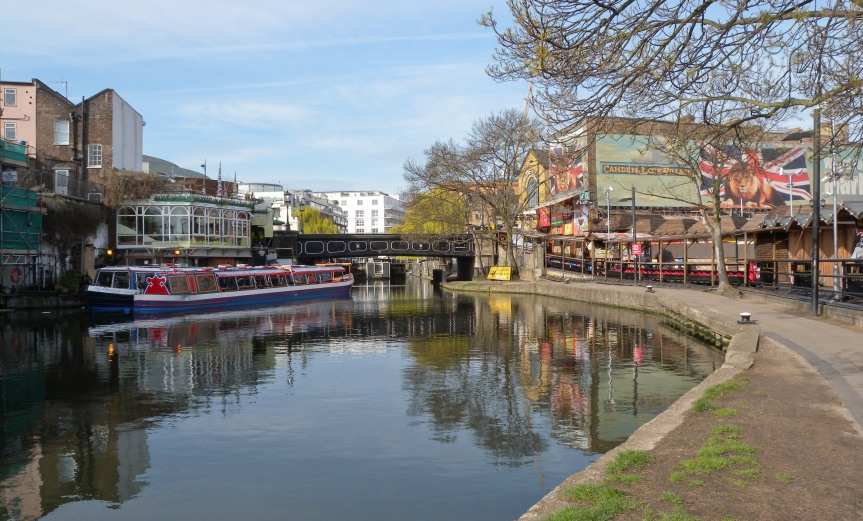 Regents Canal --by Camden Market