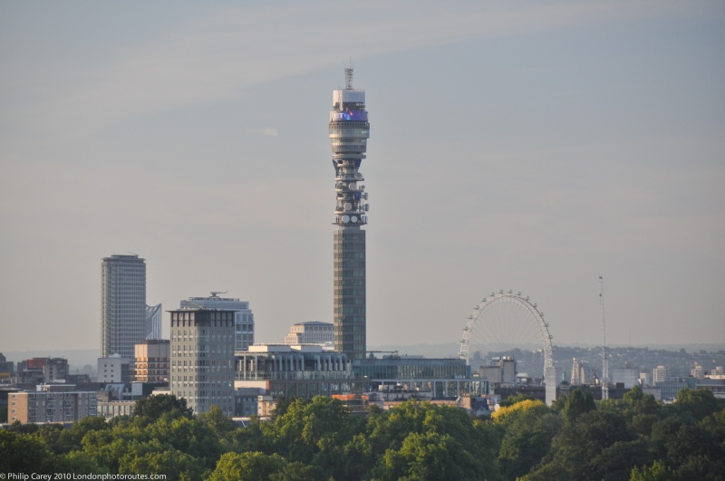 Central London from the top of Primrose Hill - Zoom