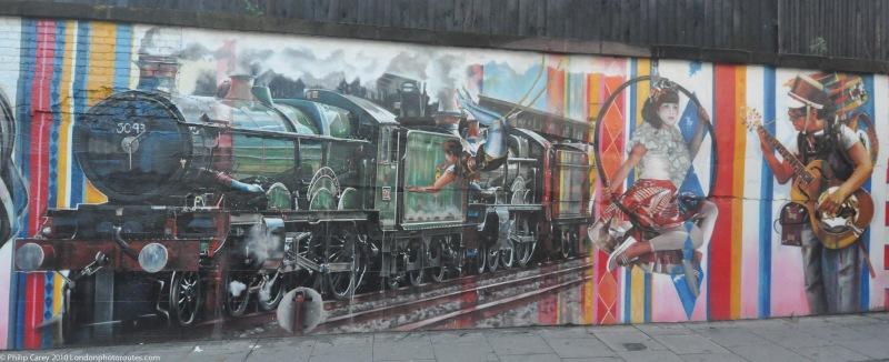 Street art by Chalk Farm - Regents Park road
