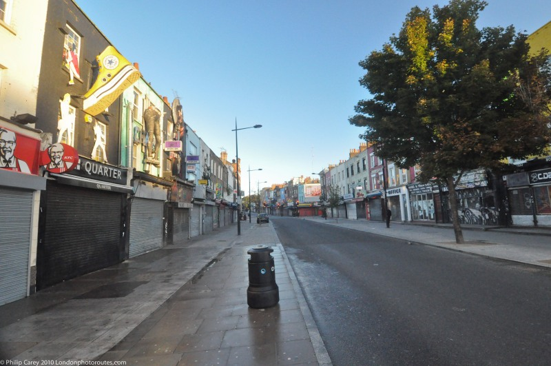 Camden High Street - before the crowds