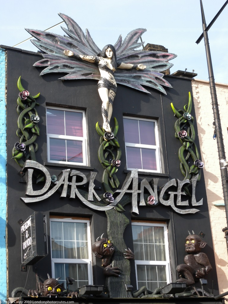 Dark Angel shop front Art - Camden High Street
