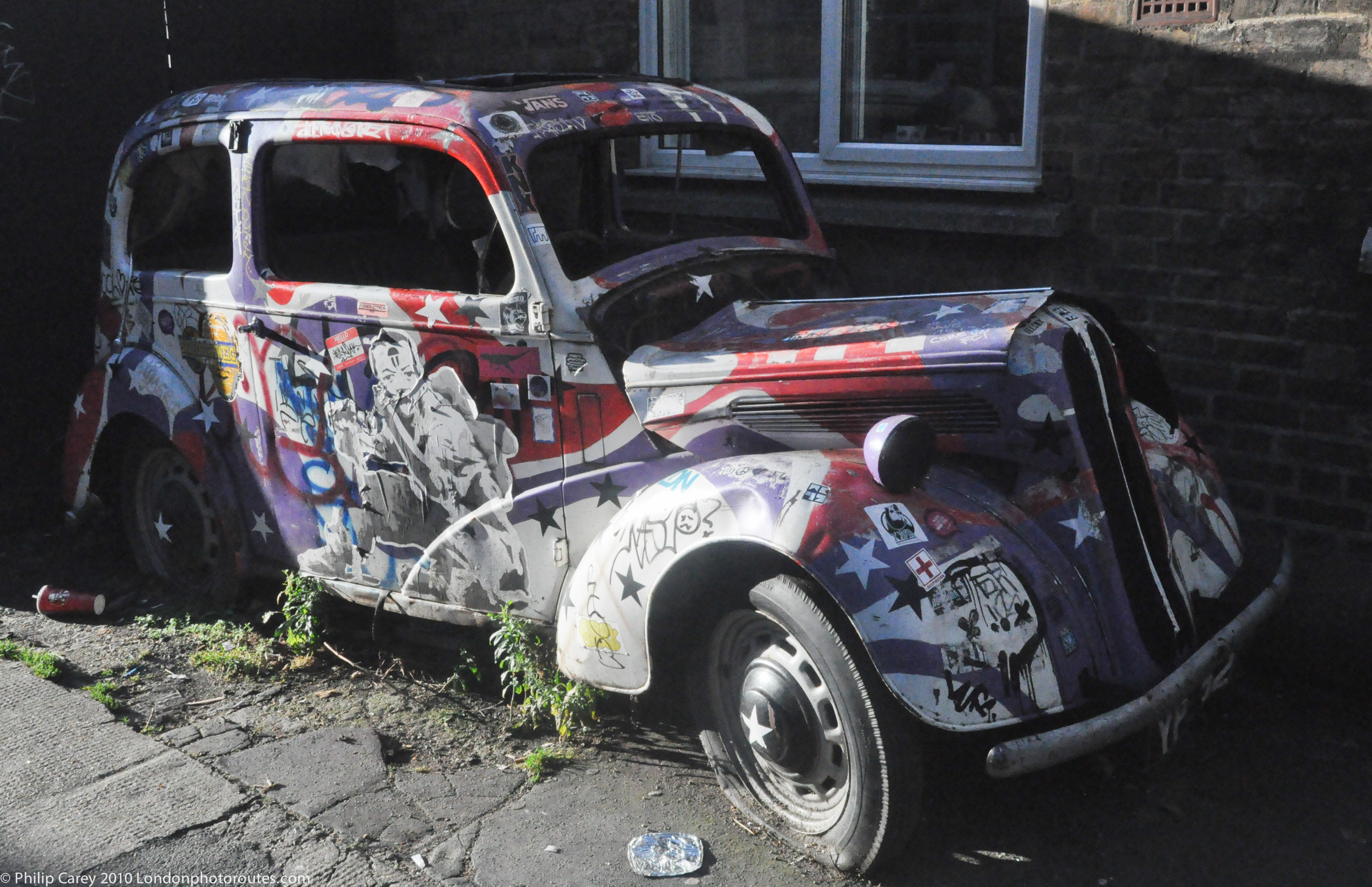 Old Abandoned Car Art Camden Market Haven Street