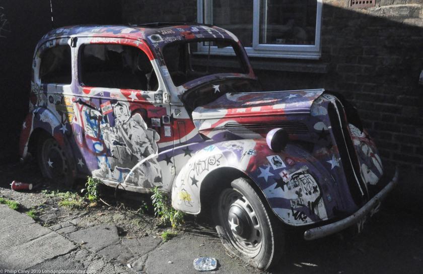 Old Abandoned Car Art - Camden Market - Haven Street