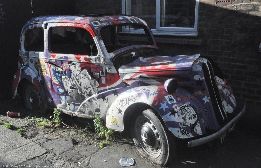 Old Abandoned Car Art - Camden Market - Haven Street