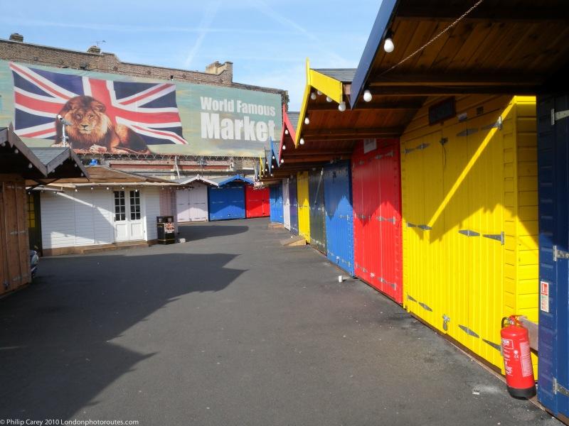 Camden market before it opens