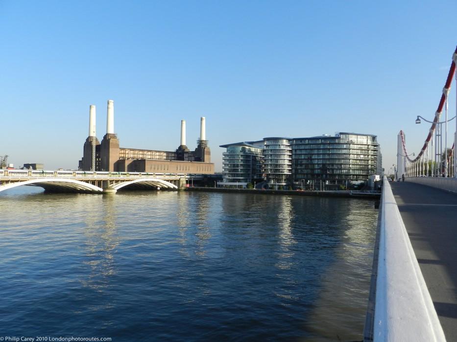 View from Chelsea Bridge towards Battersea Power Station