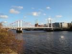Chelsea Bridge from Chelsea Embankment - Looking east
