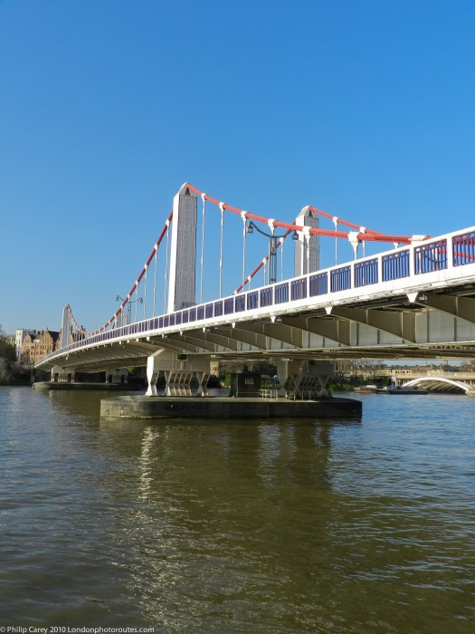 View of Chelsea Bridge from Battersea Park