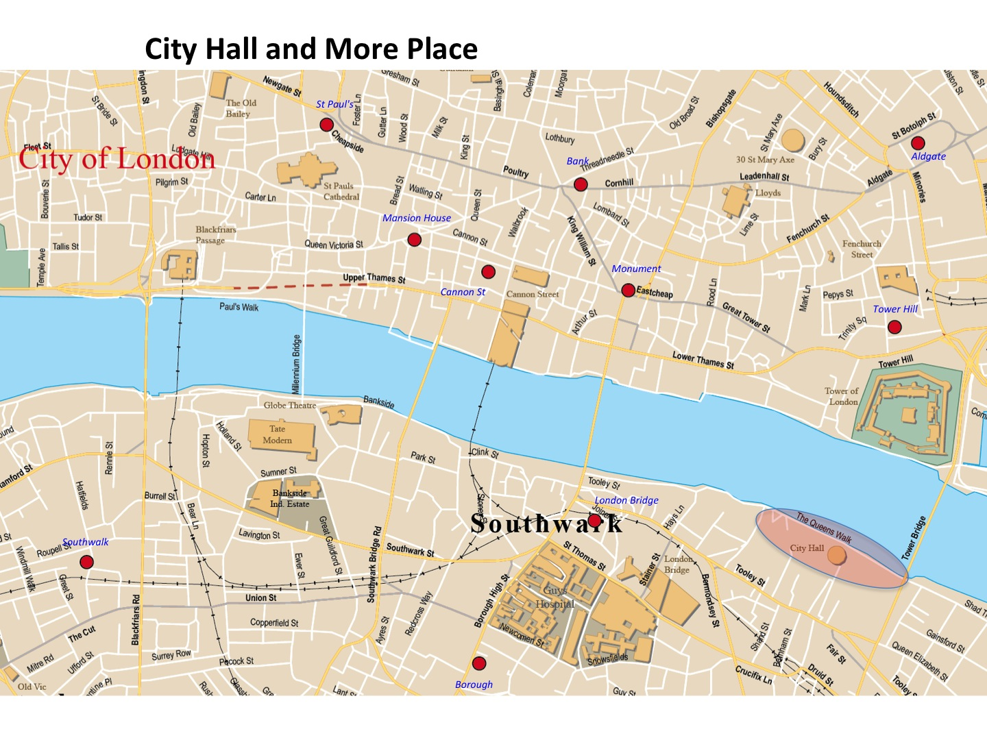 City Of London Map.City Hall And More Place Map London Photo Areas And Routes