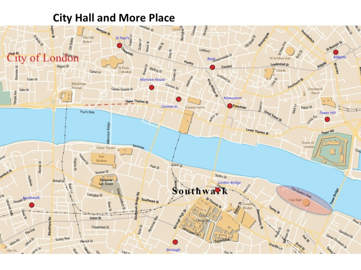 City Hall and More Place map