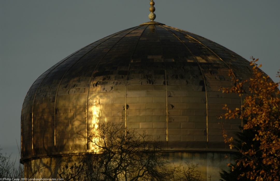 ROUNDED - Dome of the London Central Mosque off Regents Park