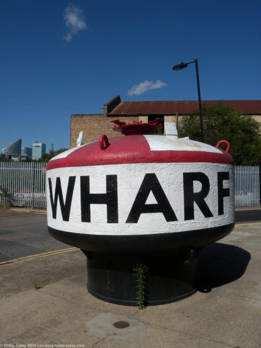 London Runs and Photo Routes - Trinity Wharf Buoy on Orchard Place
