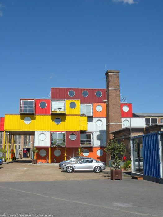 London Runs and Photo Routes - Container City 2 - Trinity Buoy Wharf