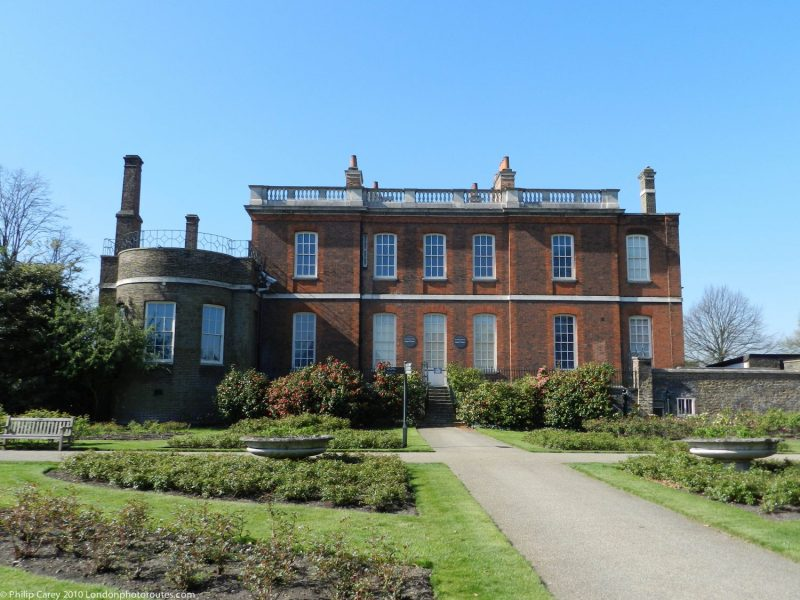 London Runs and Photo Routes - Queens House - Greenwich Park - south west of the Royal Observatory