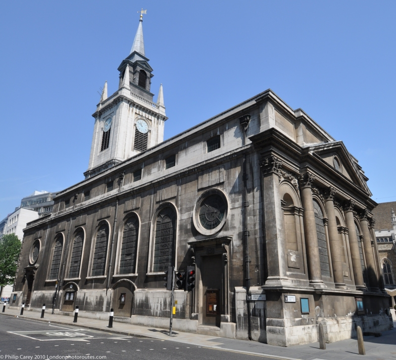 St Lawrence Jewry next Guildhall from Gresham street