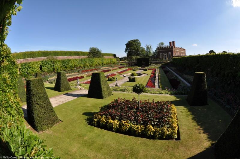 Pond Garden view through hedge