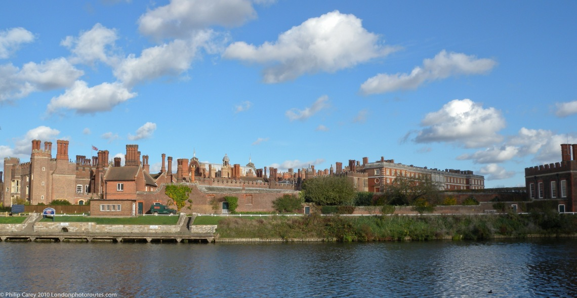 Hampton Court Palace - seen from the banks of the River Thames