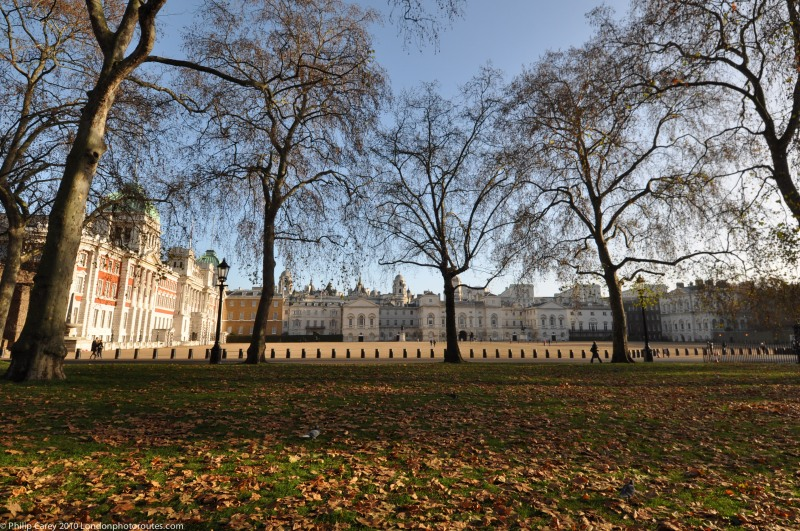 Horse Guards Parade as seen from St James Park