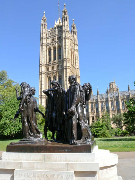 Victoria Tower and The Burghers of Calais by Rodin - Victoria Tower Gardens