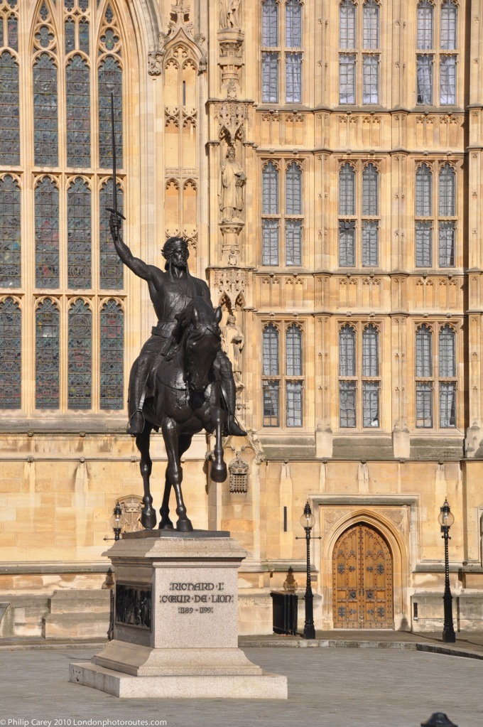 Richard the Lion Heart outside Westminster hall