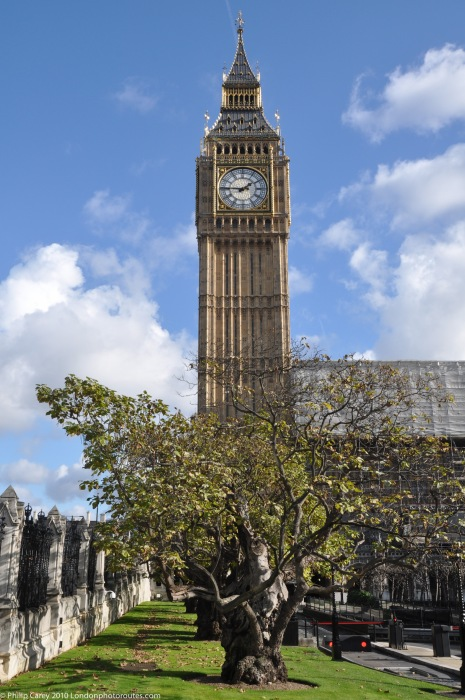 Big Ben as seen from New Palace Yard