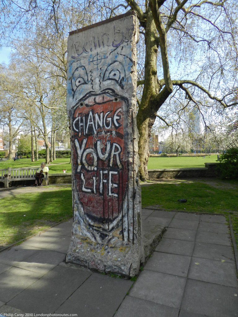 Section of the Berlin Wall by graffiti artist 'Indiano',