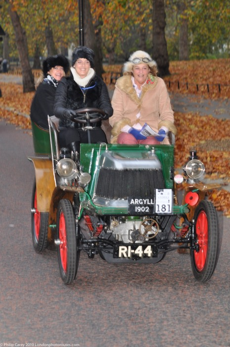 Lady Drivers on Birdcage Walk- London to Brighton Veteran Car Rally