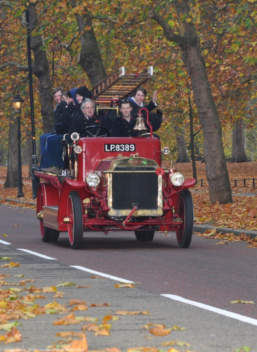 Fire Engine on Birdcage Walk- London to Brighton Veteran Car Rally