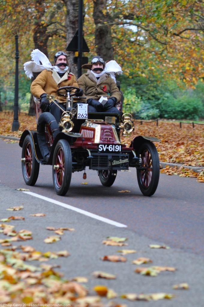 Pilot Comedians on Birdcage Walk- London to Brighton Veteran Car Rally