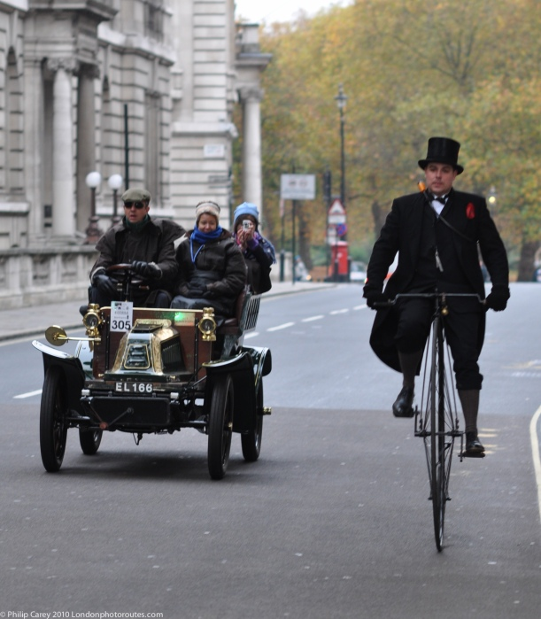 Penny Farthing Great George Street - London to Brighton Veteran Car Rally