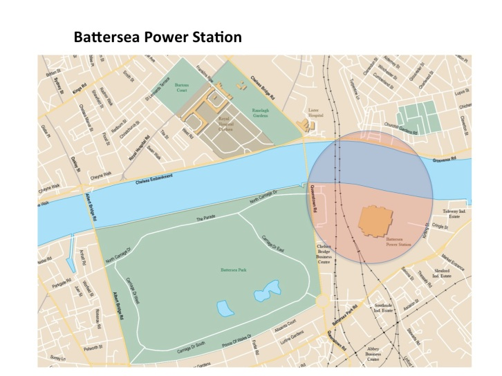 Map Battersea Power Station