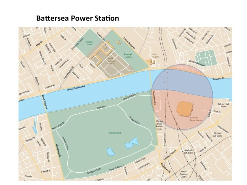 Map Battersea Power Station