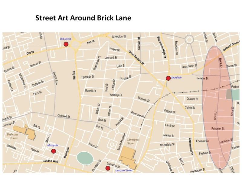 Map Brick Lane Strret art