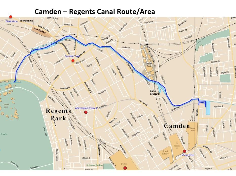 Map Camden regens canal