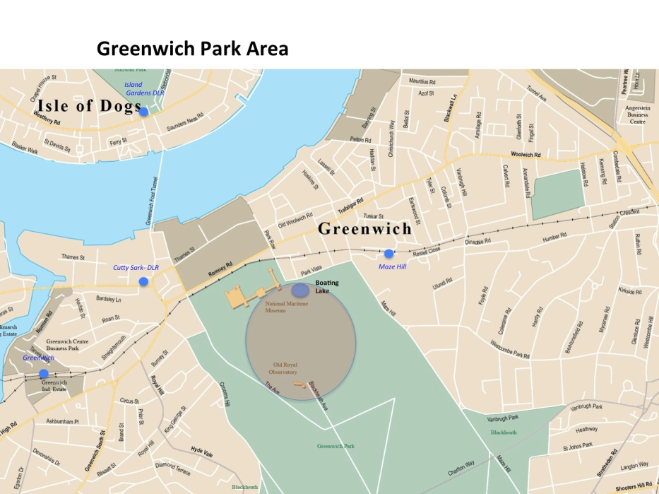 London Runs and Photo Routes - Map Greenwich Park
