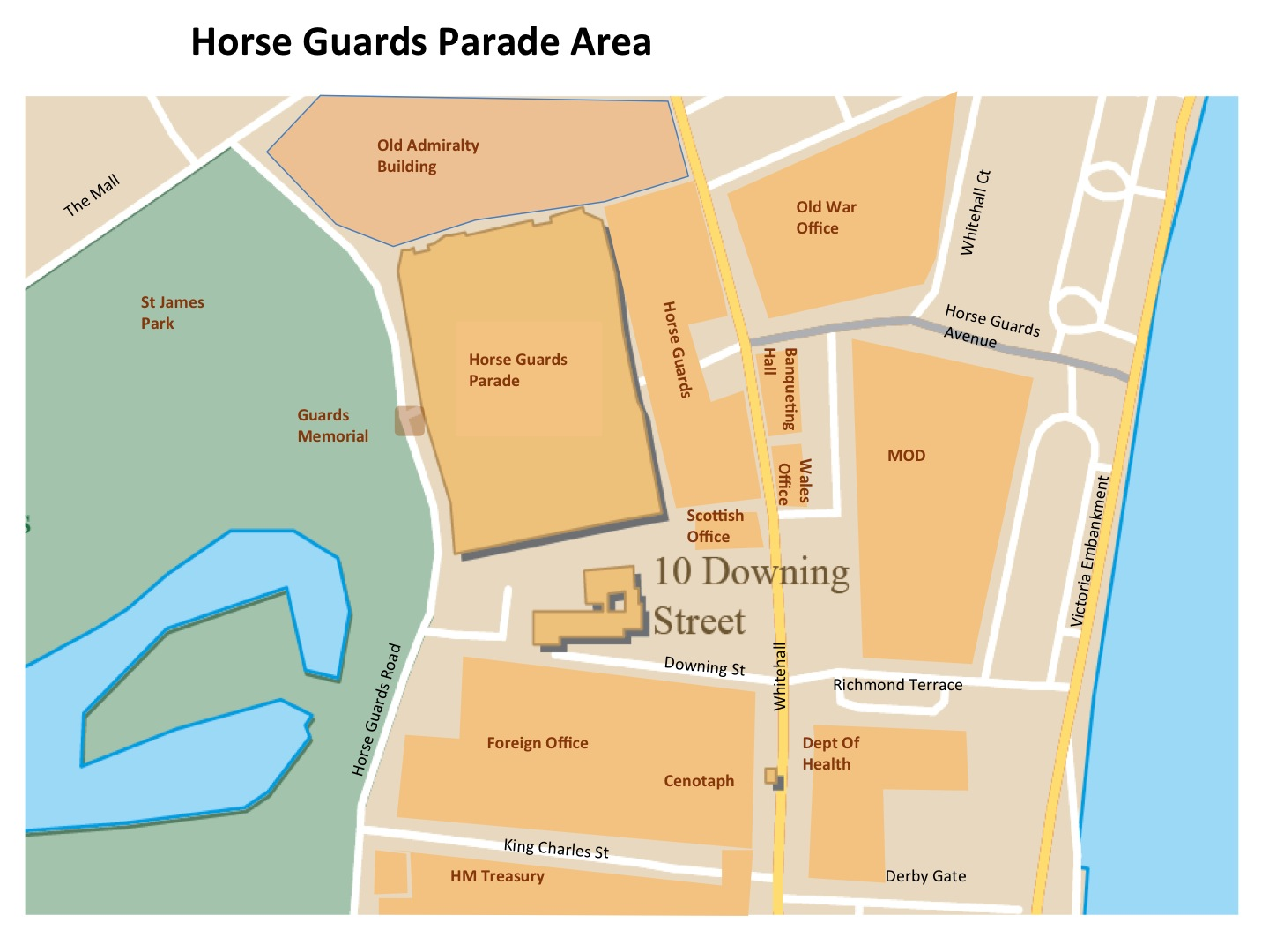 london on map with Map Horse Guards Parade on App also London Summer together with Royal Brunei Airlines destinations also Piccadilly Circus furthermore Biarritz Breaks.
