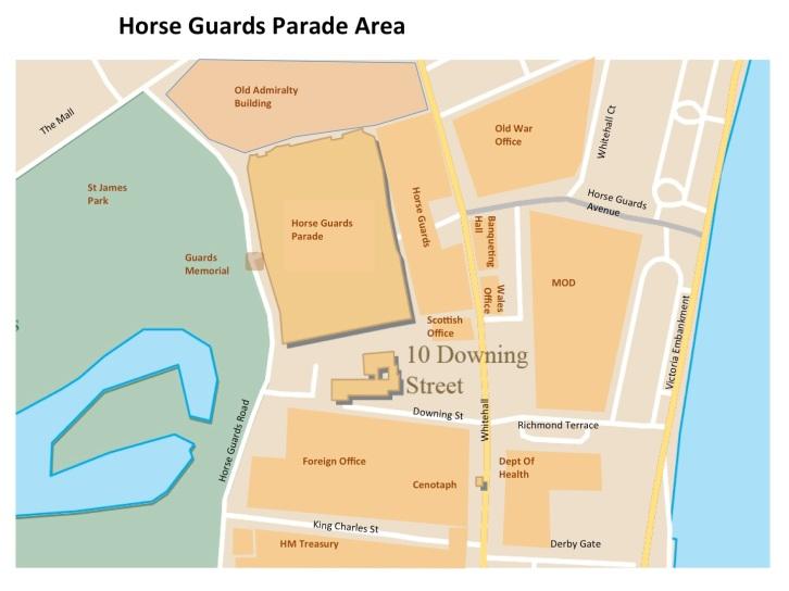 Map Horse Guards Parade