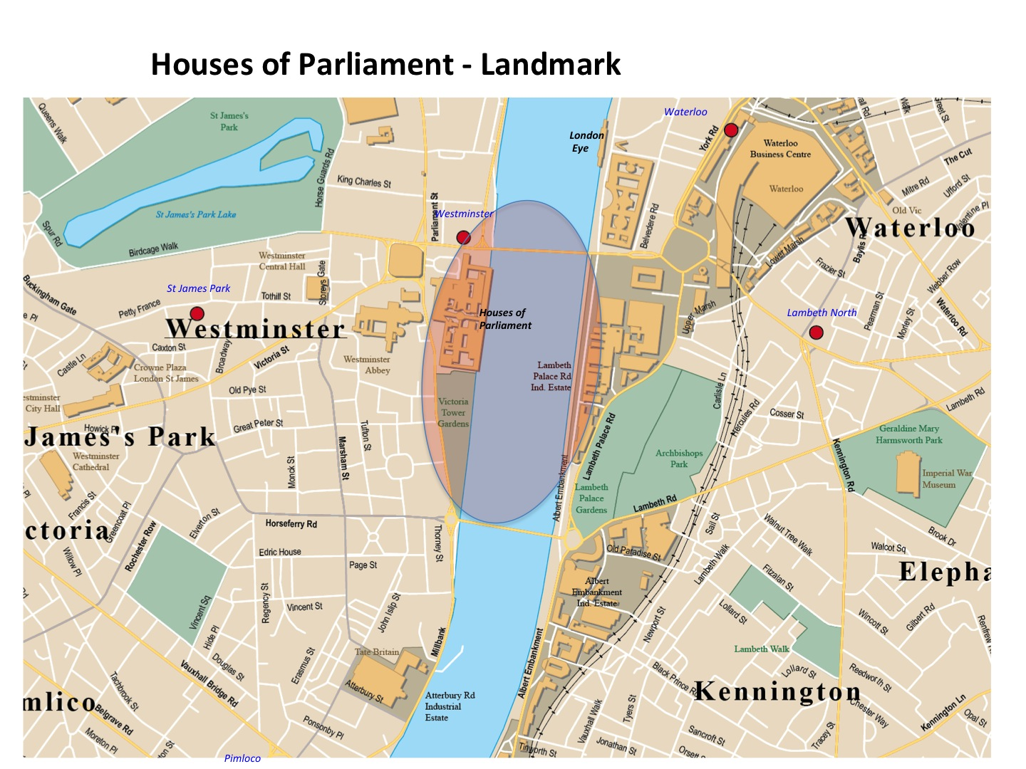 Houses Of Parliament Map Map Houses of Parliament | London Photo Areas and Routes