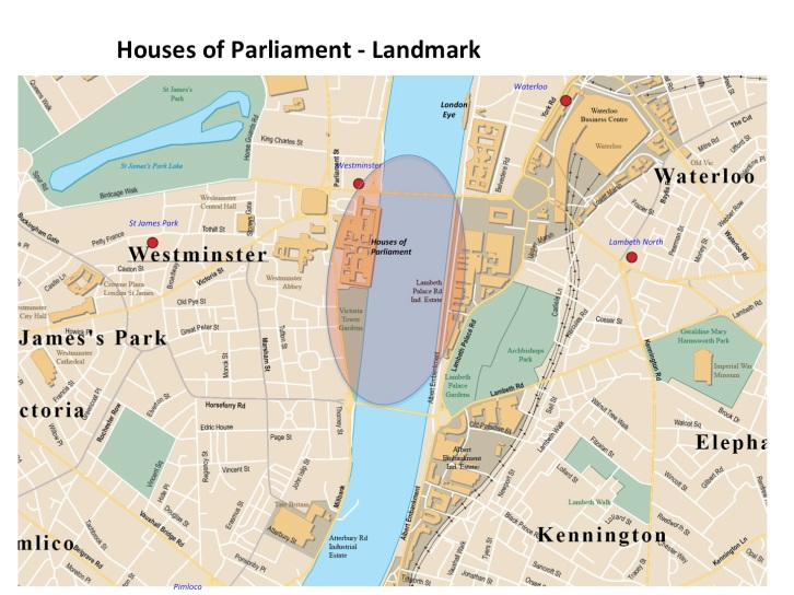 Map Houses of Parliament