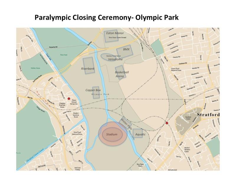 Map Paralympics Closing Ceremony